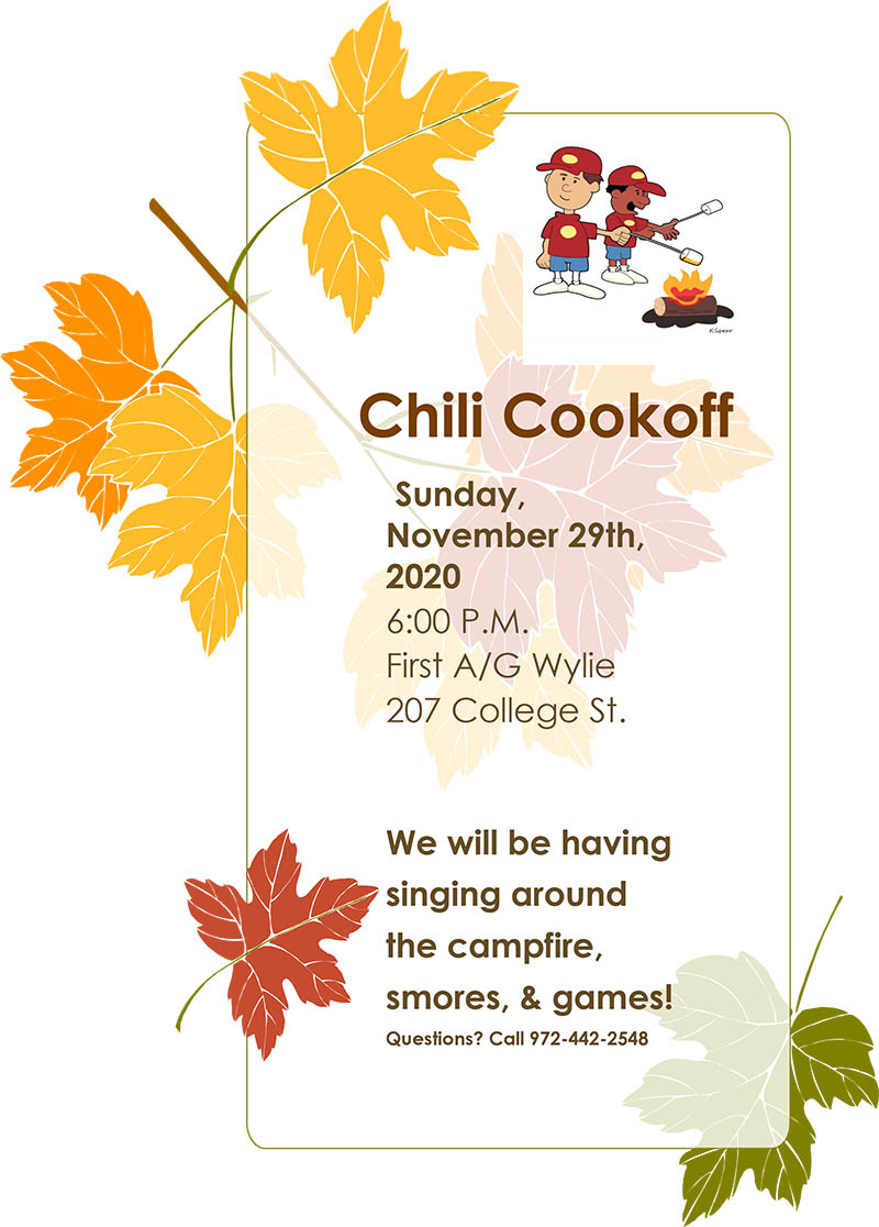Wylie First Assembly Chili Cookoff
